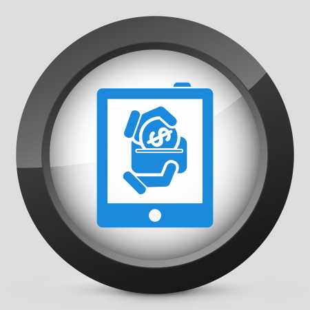 donating: Money icon on touch device