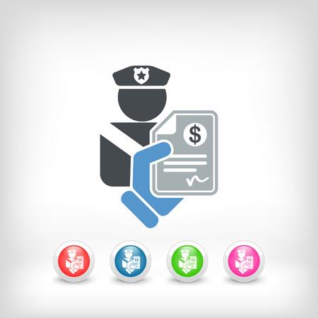 Policier icône amende Banque d'images - 23097542