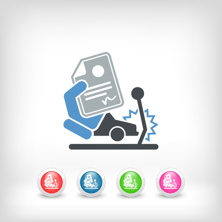 Car crash insurance Vector