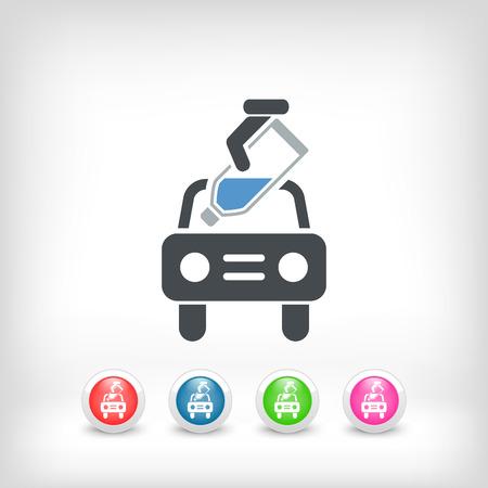 lubricate: Car liquid pouring