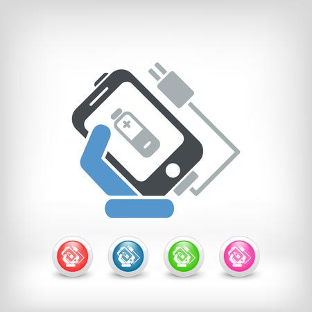 lading: Telefoon op te laden pictogram