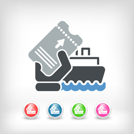Boat ticket Vector