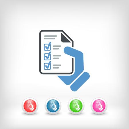 Test document Stock Illustratie
