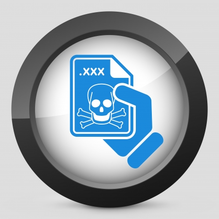 Infected file icon Stock Vector - 23097648