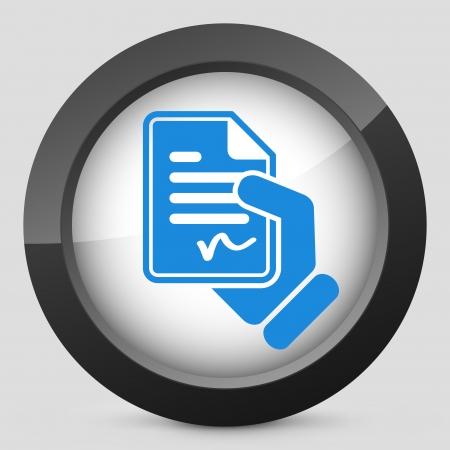 formalize: Document signed icon Illustration