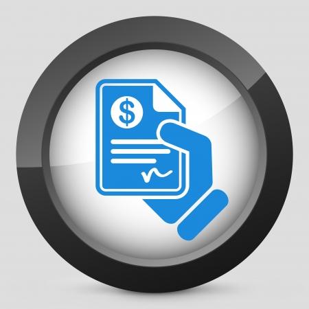Betalingsdocument Vector Illustratie