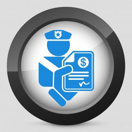 Policeman fine icon Stock Illustratie