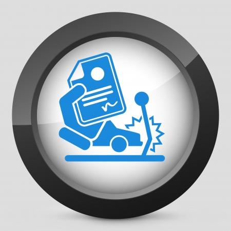 Car crash insurance Stock Illustratie