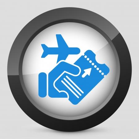 Airline ticket Illustration