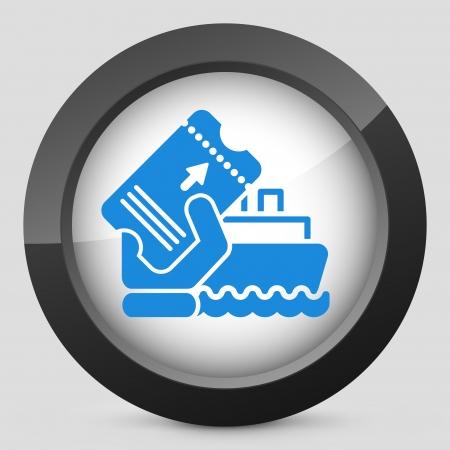 Boat ticket Illustration