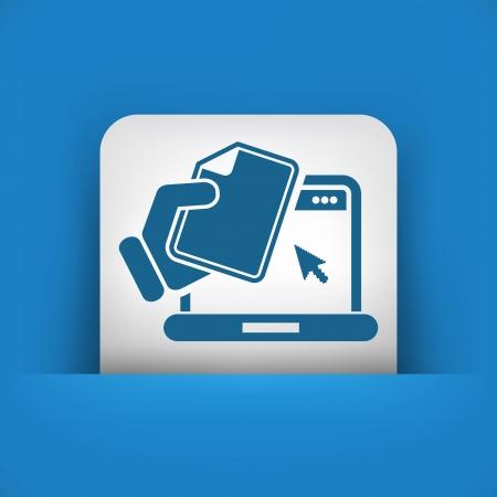 Laptop document icon Illustration