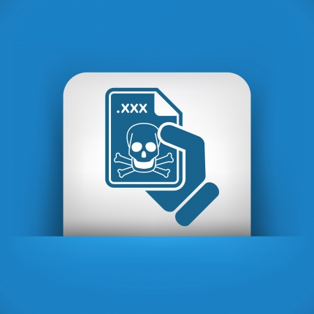 Infected file icon Stock Vector - 23118478