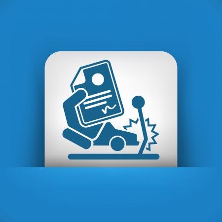 Car crash insurance Illustration