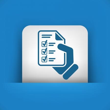 multiple choice: Test document Illustration