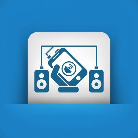 Smartphone speakers Stock Vector - 23118537