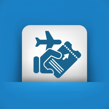 Airline ticket Vector
