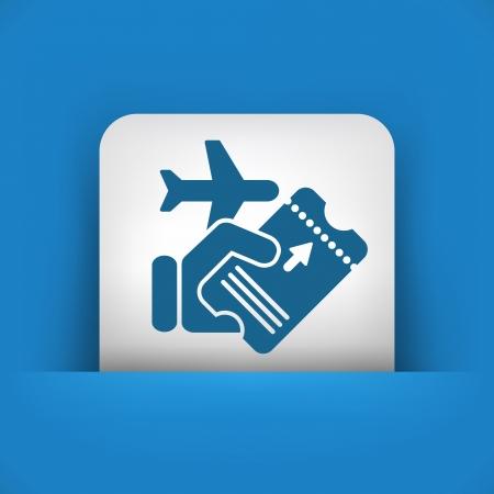 airway: Airline ticket Illustration