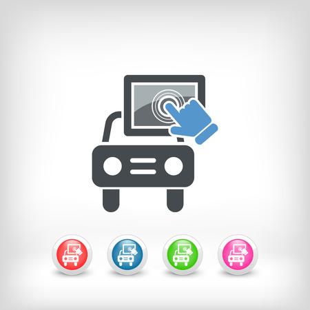 Touchscreen car device Illustration