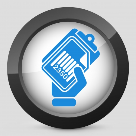 Document barcode icon