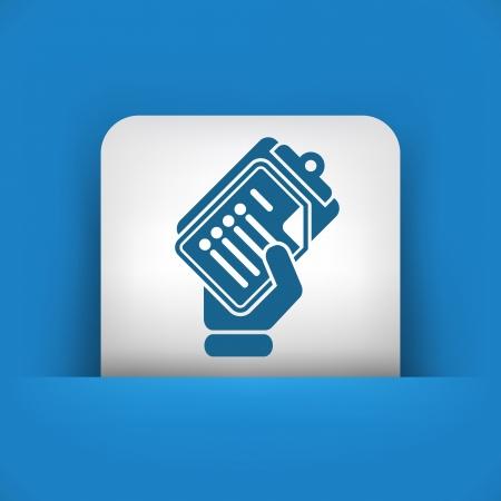 hand gripper: Office document icon Illustration