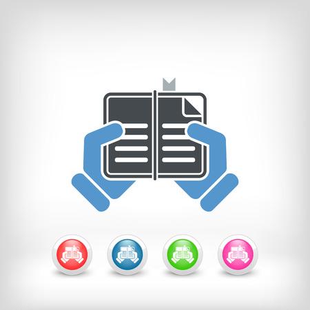Book read icon Stock Vector - 23428858