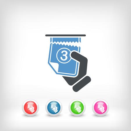 Icône de la file d'attente de billets Banque d'images - 23428861