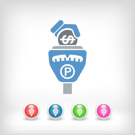 drive ticket: Parking meter