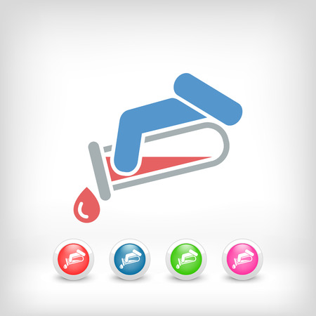 Test tube icon Stock Vector - 23428882