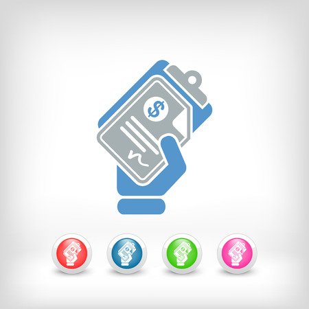Icône du document de l'argent Banque d'images - 23428909