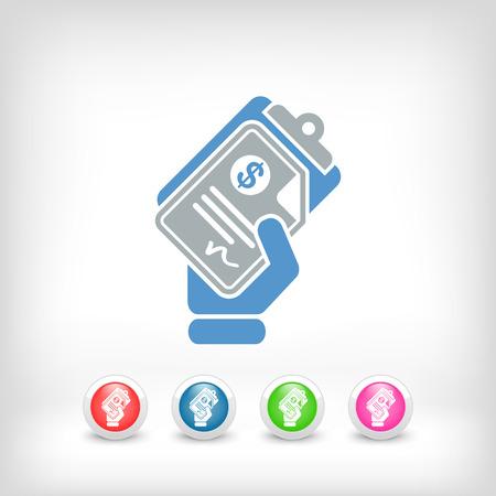 Money document icon Stock Vector - 23428909