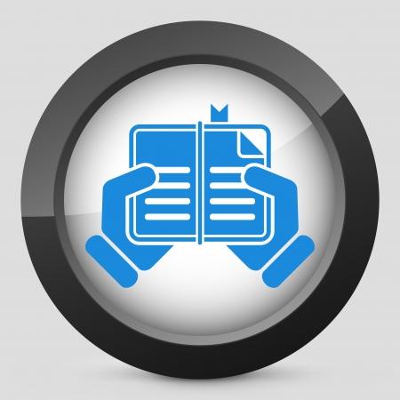 Book read icon Stock Vector - 23428910