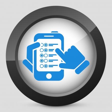 Menu smartphone Stock Vector - 23428911