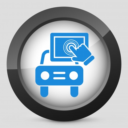 Touchscreen car device Vector