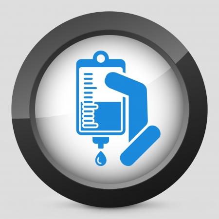iv: Medical drip bag Illustration