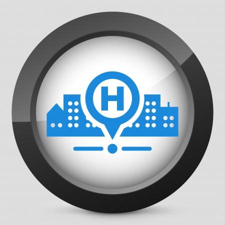 medical building: Hospital location Illustration