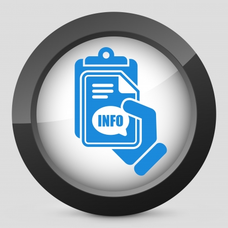 informer: Info document icon Illustration