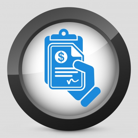 payable: Icono de documento de Dinero Vectores
