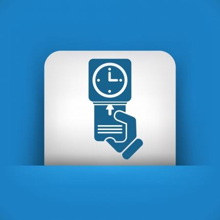 presence: Clocking-in card icon Illustration