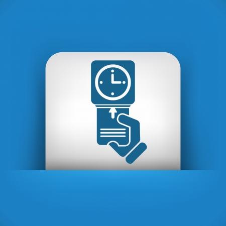 presencia: Reloj en icono de la tarjeta