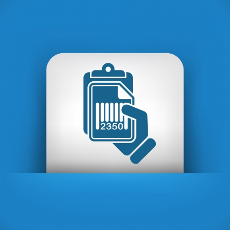 Document barcode icon Vector