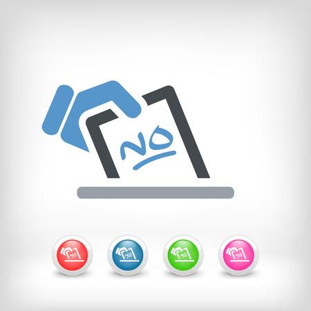 opinion poll: Vote concept icon