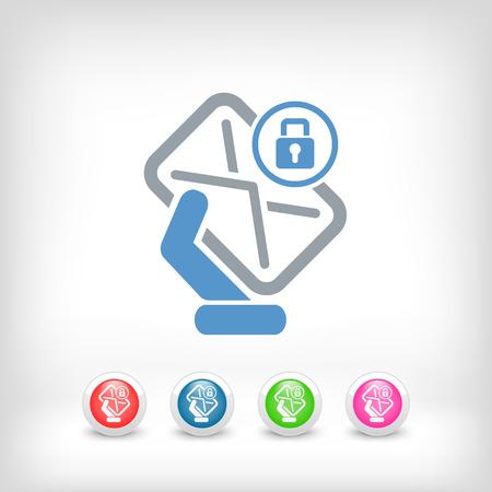 locked icon: Safe mail