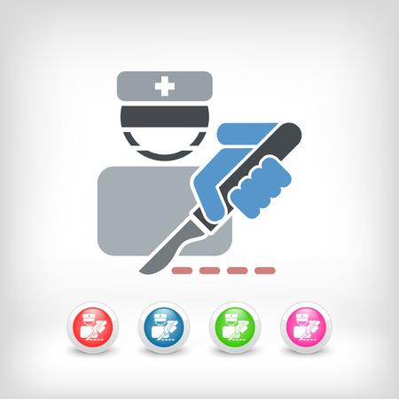 surgeon operating: Surgeon bistoury