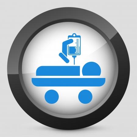 stretcher: Hospital stretcher