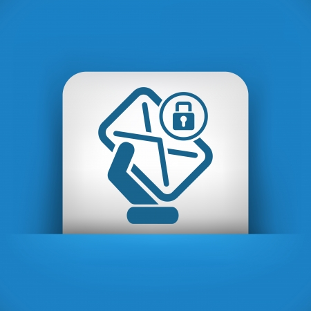 Safe mail Vector