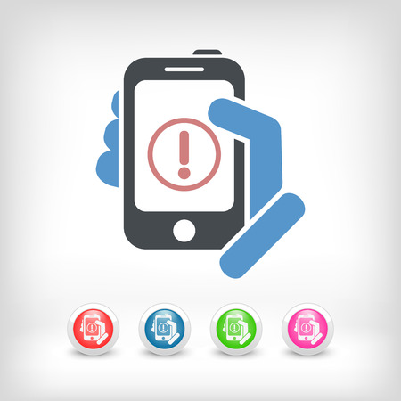 Alert mobile device Stock Vector - 24578676