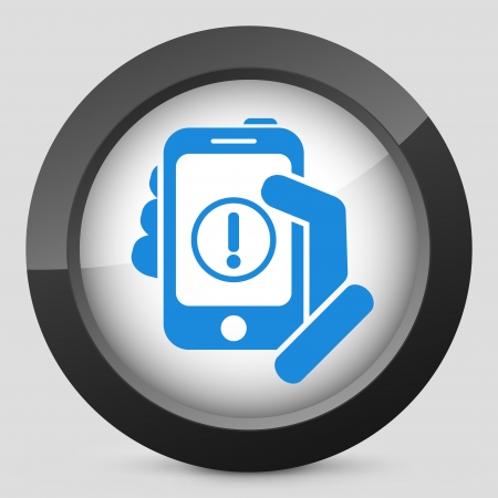 Alert mobile device Vector