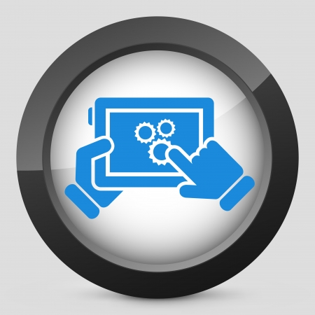 Setting device Stock Vector - 24580347