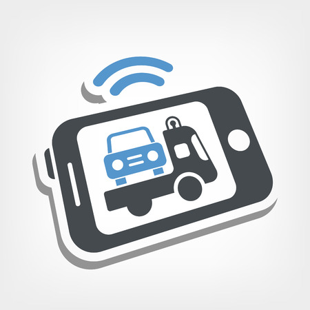 laptop repair: Asistencia coche m�vil Vectores