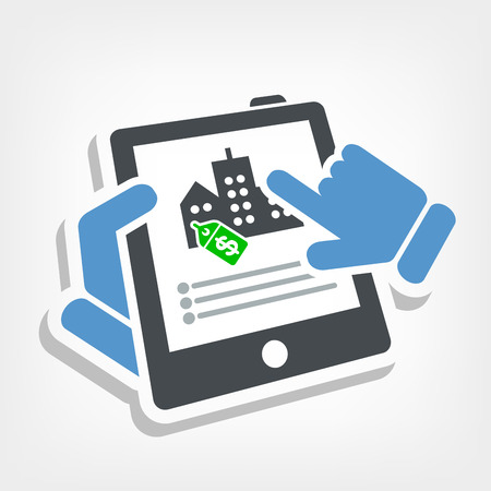 Real estate website Vector